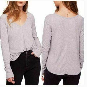 Intimately Free People Ribbed Long Sleeve Top Med.